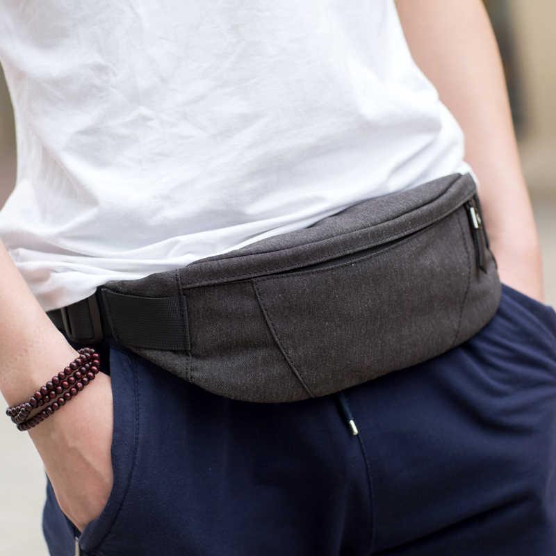 ca1d9b754f0b ... Hk поясная Сумка черный водостойкие поясная барсетка для мужчин кошелек  подростка путешествия ремень мужской поясные сумки ...
