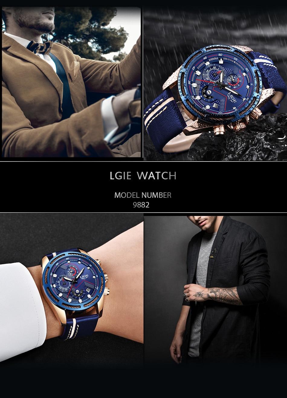 HTB1I9VhXliE3KVjSZFMq6zQhVXaC LIGE Watch Men Fashion Sport Quartz Clock Leather Mens Watches Top Brand Luxury Blue Waterproof Business Watch Relogio Masculino