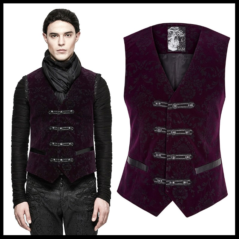 Small ThePirateDressing Steampunk Victorian Gothic Punk Vampire Businessmen Vest Costume C1323