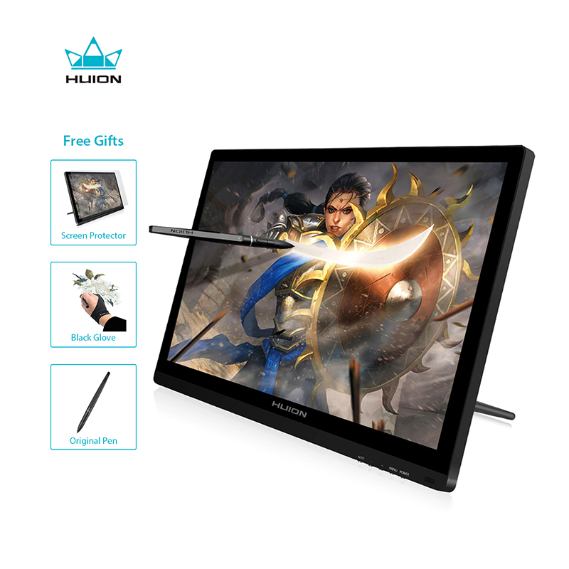 Huion GT-191 IPS pluma Monitor pantalla 8192 niveles arte HD gráficos dibujo pluma tableta Monitor con regalos