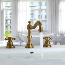Antique Brass 8 Widespread Bathroom Basin Faucet 3 Holes Vanity Sink Mixer Tap Double Handle Hot and Cold Water  KD1183 sl 60g 8 8 cm mixer fader double potentiometer b10k handle 10mm