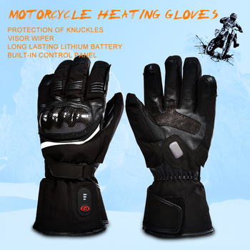 motorcycle heated glove riding racing motorbike winter Outdoors Sports battery Electric Heating KNUCKLE EN13594 3 levels