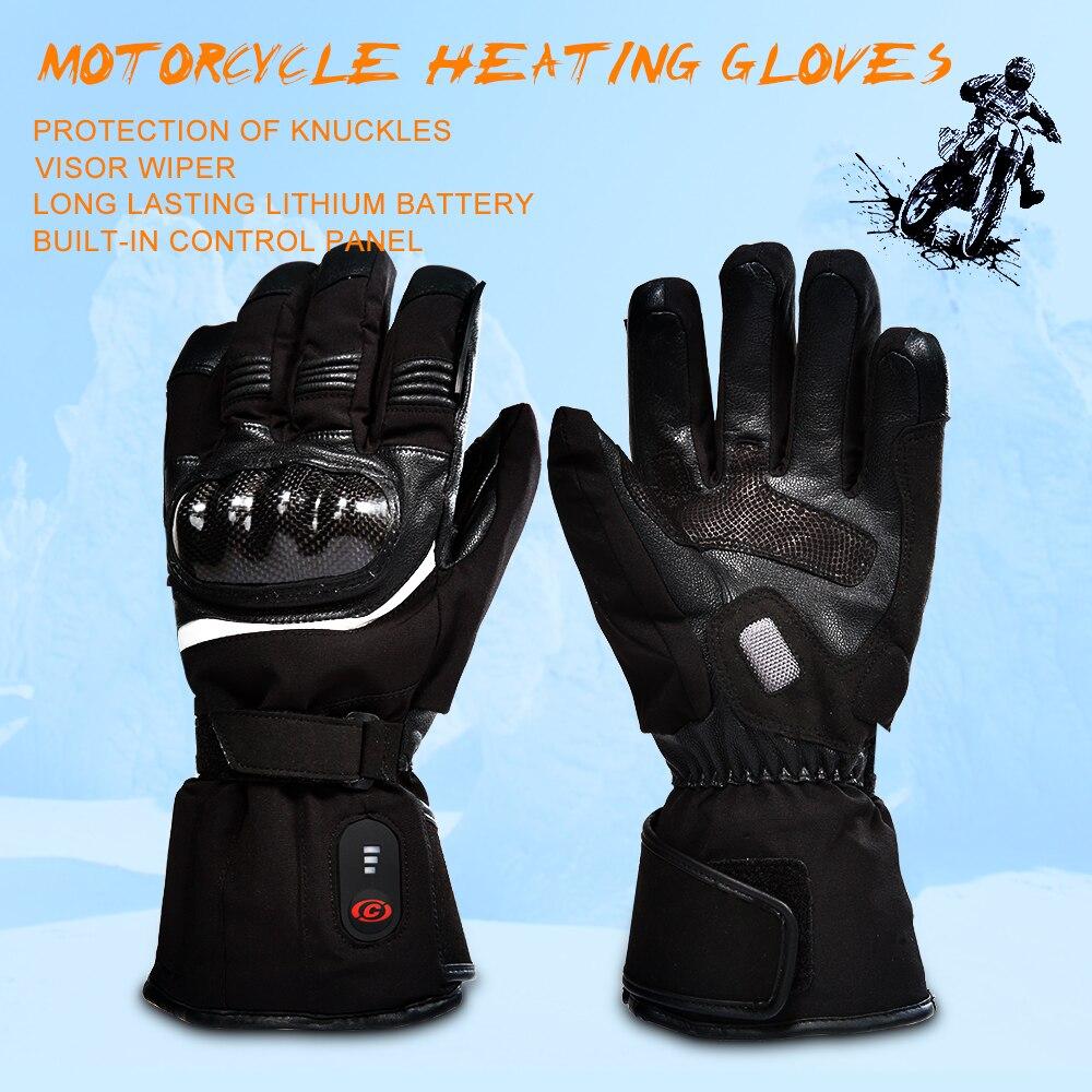 SALVATORE moto riscaldati guanto di guida moto da corsa inverno All'aperto Sport batteria di Riscaldamento Elettrico KNUCKLE EN13594 3 livelli