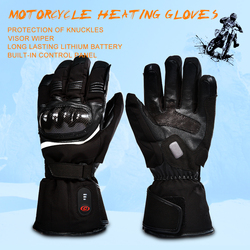 SAVIOR motorcycle heated glove riding racing motorbike winter Outdoors Sports battery Electric Heating KNUCKLE EN13594 3 levels