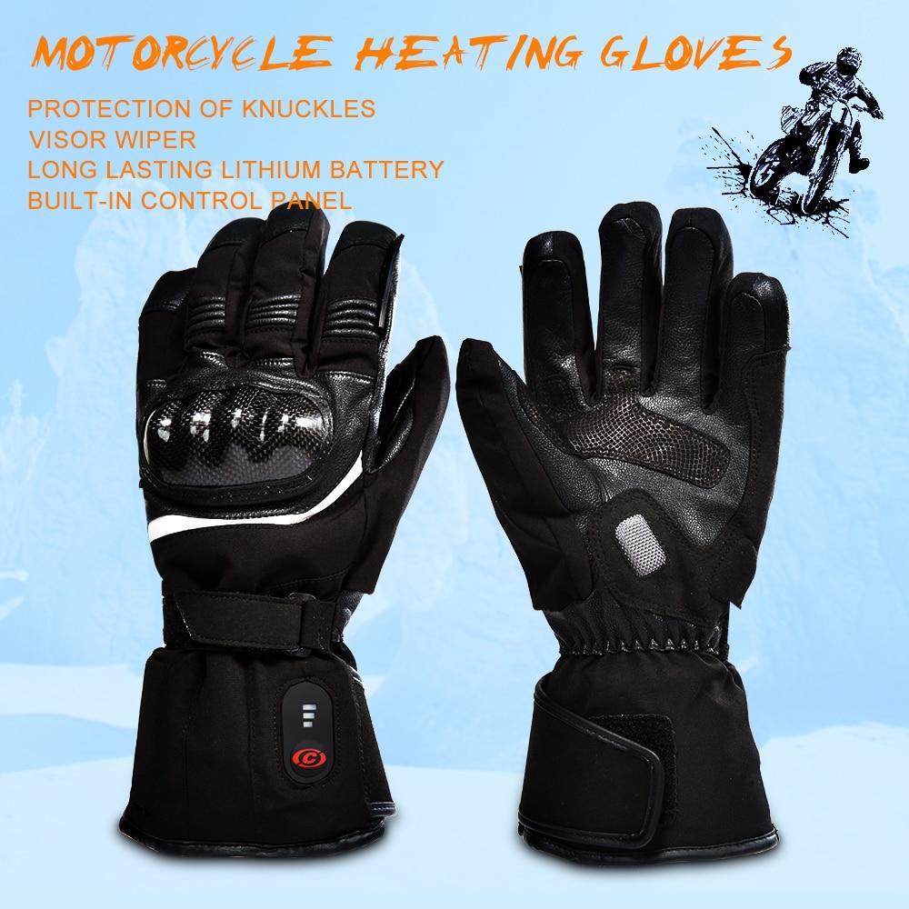 Sauveur moto chauffée gant équitation course moto hiver plein air sport batterie électrique chauffage KNUCKLE EN13594 3 niveaux