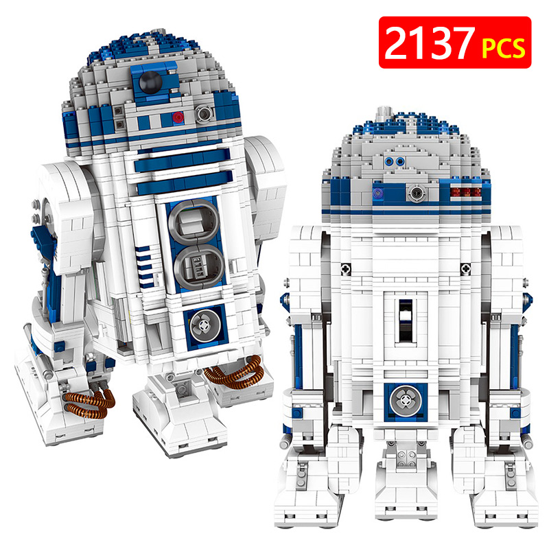 New Technic LegoINGLYS Star Wars Series The R2-D2 Robot Set Out of Print Building Blocks Brick Toy for Kids Puzzel Gift telecool 536 pcs knight series lion king castle 1010 building blocks brick set toy for kids christmas gift