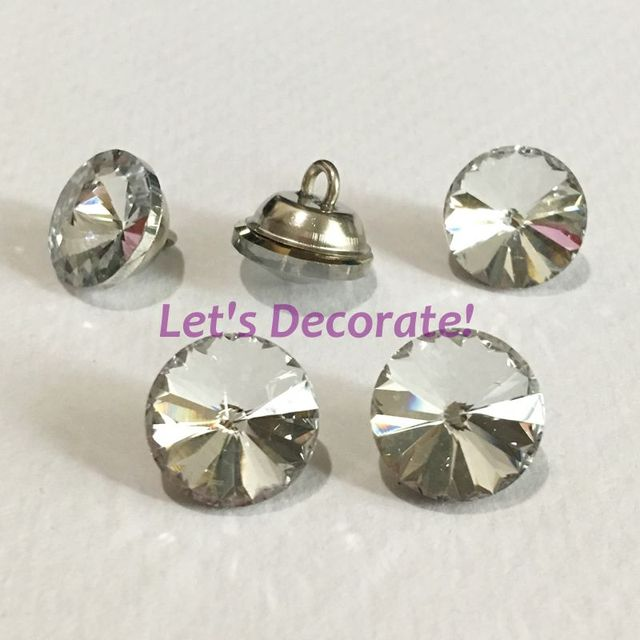 Free Shipping 100PCS/LOT 16MM Satellite Crystal Glass Buttons /Sofa Glass  Buttons For Sofa