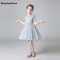 2019 new elegant princess formal dress kids baby school evening prom party pageant little bridesmaid flower girl dress age