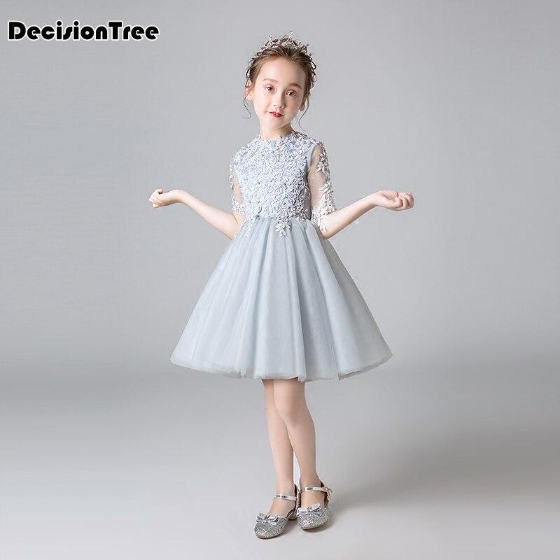 2019 nouveau élégant princesse formelle robe enfants bébé école de soirée de bal parti pageant petite demoiselle d'honneur robe de demoiselle age