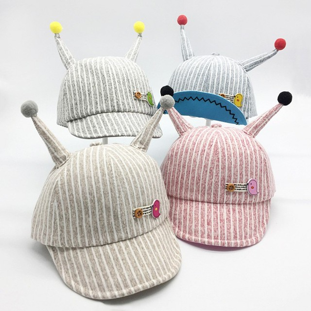 4a132cafac5af2 Summer Cotton Toddler Infant Baby Hats Cute Casual Striped Soft Eaves Baseball  Cap Baby Boy Beret Baby Girls Sun Hat