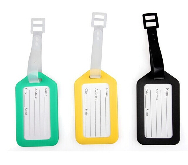 10 pcs lowest price! luggage tag Key ID Labels Tags with Key Ring Split Rings