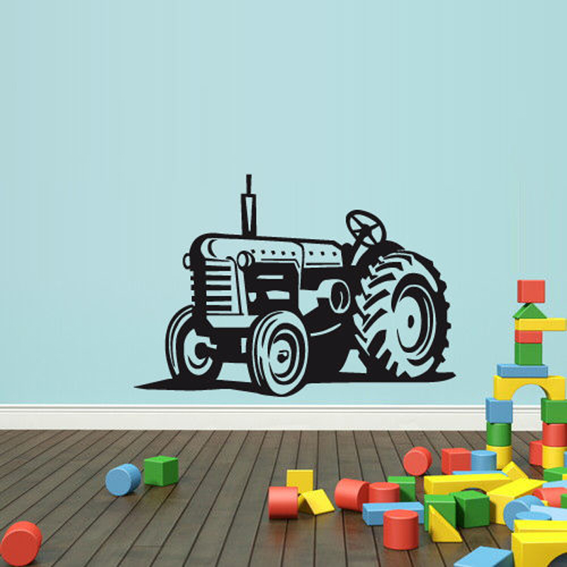 Tractor Loader Bulldozer Removable Wall Stickers For