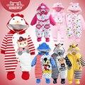 Baby boy roupas de bebê recém-nascido de Alta qualidade Dos Desenhos Animados de Algodão Grosso quente Macacão Infantil roupas de bebê roupas de Inverno Romper Do Bebê