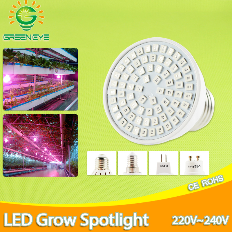Grow Light E27 E14 MR16 GU10 220V 110V LED Lampada Cfl Full Spectrum Indoor Plant Lamp For Plants Vegs Hydroponic System Plant