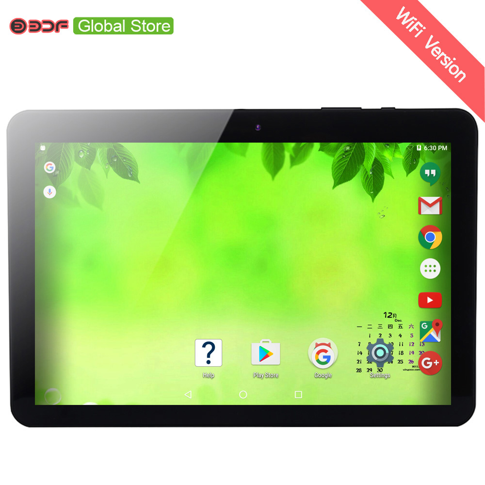 Version WiFi Android 6.0 tablette pc 10.1 pouces 1GB 32GB Quad Core tablettes pc 6000Mah fabriqué en P.R.C belle conception onglet Pc BDF