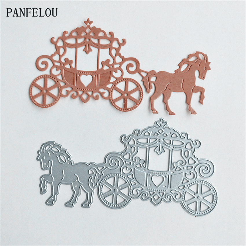 PANFELOU Metal craft The princess carriage paper die cutting dies for Scrapbooking/DIY Christmas wedding Halloween cards