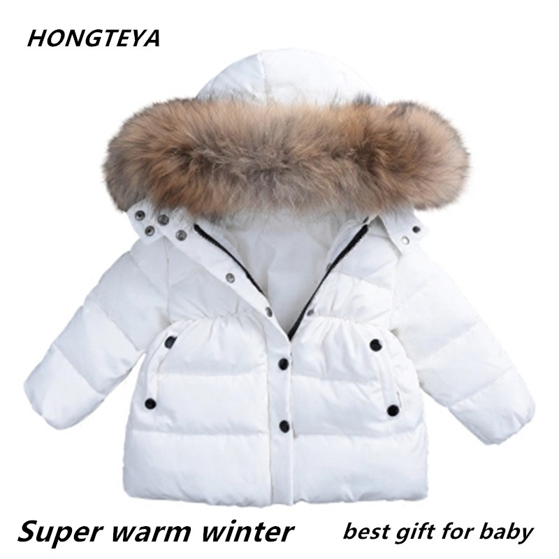 2018 best sell baby winter clothes under ultra light baby girl warm jacket over 90% hot winter coat with cap kids zipper clothes цена