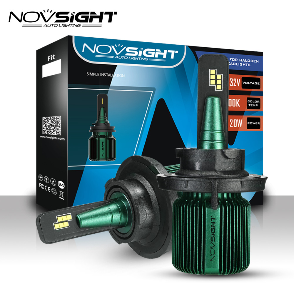 Novsight H4 Led Car Headlight Bulbs H7 Car Led Headlights 9005 9006 40w 10000lm 6500k Ip68 Waterproof And Dustproof Car Light Relieving Heat And Sunstroke Car Lights
