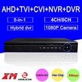 Hisiclion Sensor Bule-Ray Exterior DVRl 8CH/4CH 1080P/1080N/ 960P/720P/960H Coaxial 5 in 1 NVR TVI CVI AHD DVR FreeShipping