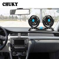 CHUKY Double Head Auto Air Cooler Cars Ventilator For Mercedes Benz W203 W204 Citroen c4 c5 c3 Suzuki swift grand Accessories