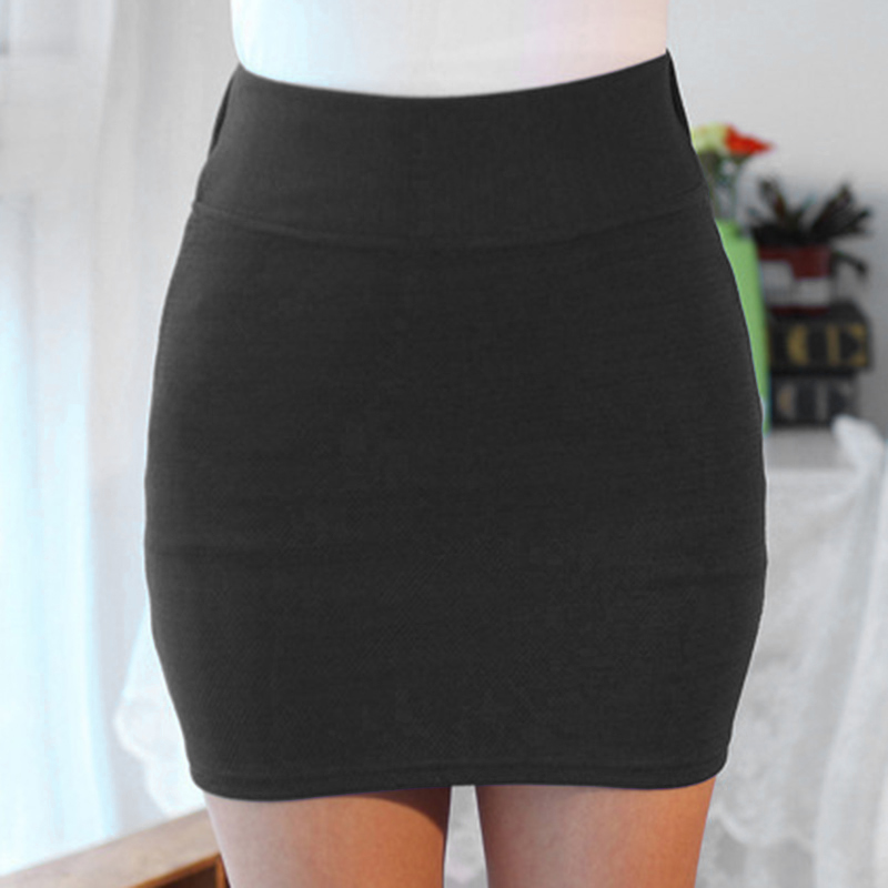 Newly Women Lady Solid Color Slim Elasticity Short Skirt Fashion For Summer Party DO99