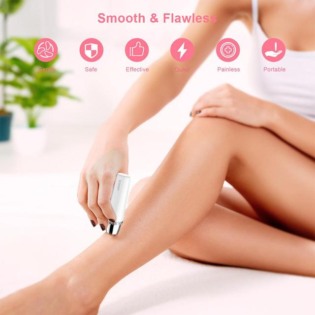Electric Hair Removal Instrument Painless Eyebrow Trimmer Epilator for Women Portable Hair Removal Razor 4