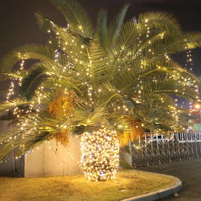 Светодиодный свет гирлянды 10 м/20 м возможностью погружения на глубину до 30 м 50 м 100 м Водонепроницаемый Открытый 220 V/110 V для рождества, вечерние, свадьбы, праздника, на открытом воздухе украшения
