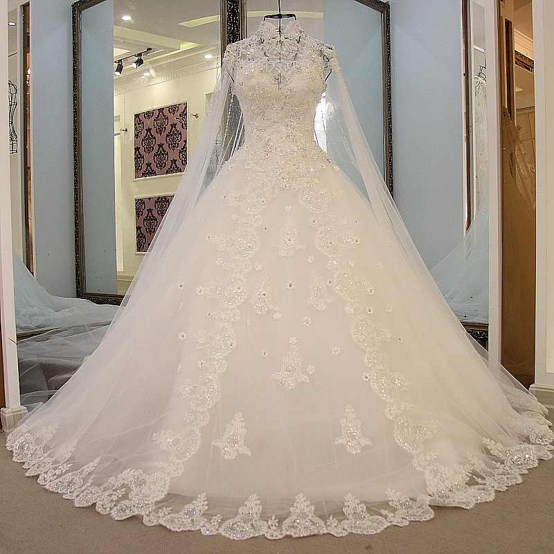 Cathedral Length Train Wedding Gowns: Aliexpress.com : Buy Cathedral/Royal Train Ivory Beading A