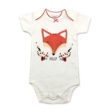 Unisex Top Quality Baby Rompers Short Sleeve Cottom O-Neck 0-24M Novel Newborn B