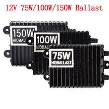 O dużej mocy 75 W 100 W 150 W żarówki HID balast dla żarówka H1 H3 H4 H7 H11 9005 9006 d2H HID zestaw żarówek reflektorów samochodu AC 12 V przetwornica