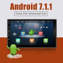 Quad 4 Core 7 Inch 2 DIN Android 7.1 Mobil Audio Tidak DVD Stereo Radio GPS 3G Wifi navigasi GPS Head Unit untuk Mobil Universal(China)