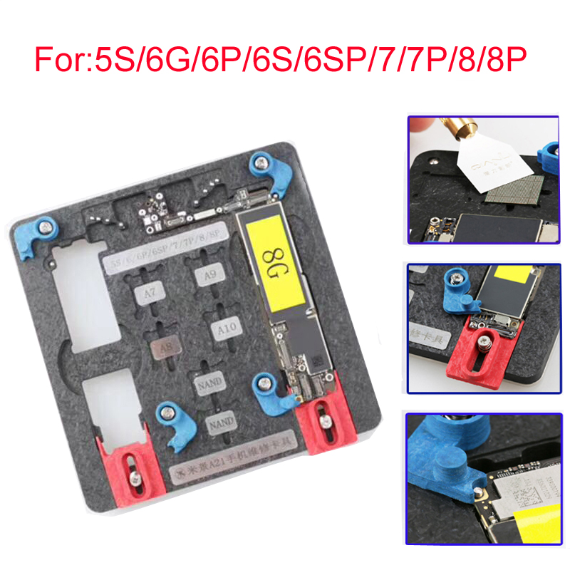 Newest Circuit Board PCB Holder Jig Fixture Work Station for iPhone 8 7 6SP 5S Logic Board A8 A9 A10 Chip Repair Tool newest circuit board pcb holder jig fixture work station for iphone 8 7 6sp 5s logic board a8 a9 a10 chip repair tool