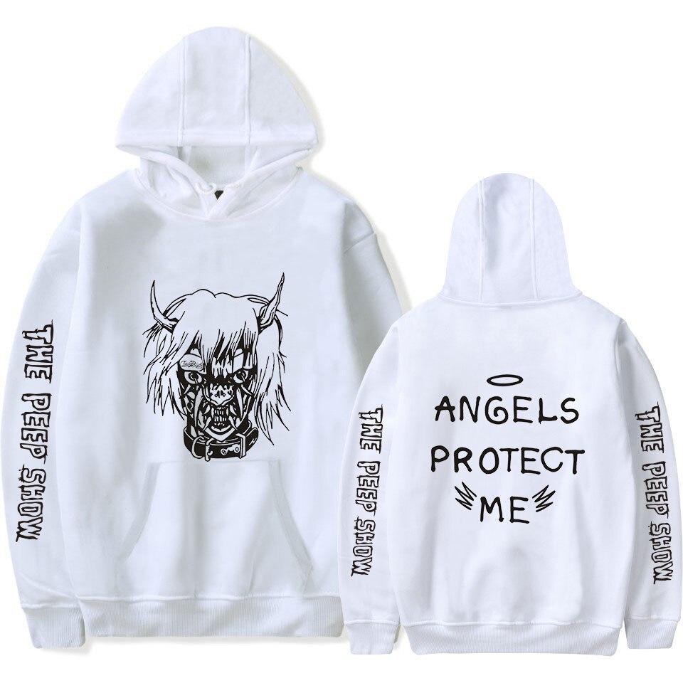 Image 3 - 2018 New Lil Peep Hoodies Men Hooded Sweatshirts Men  Pink Spring Autumn Hip Hop Harajuku Loose 4XL Hoodie Sweatshirt Streetwear-in Hoodies & Sweatshirts from Men's Clothing