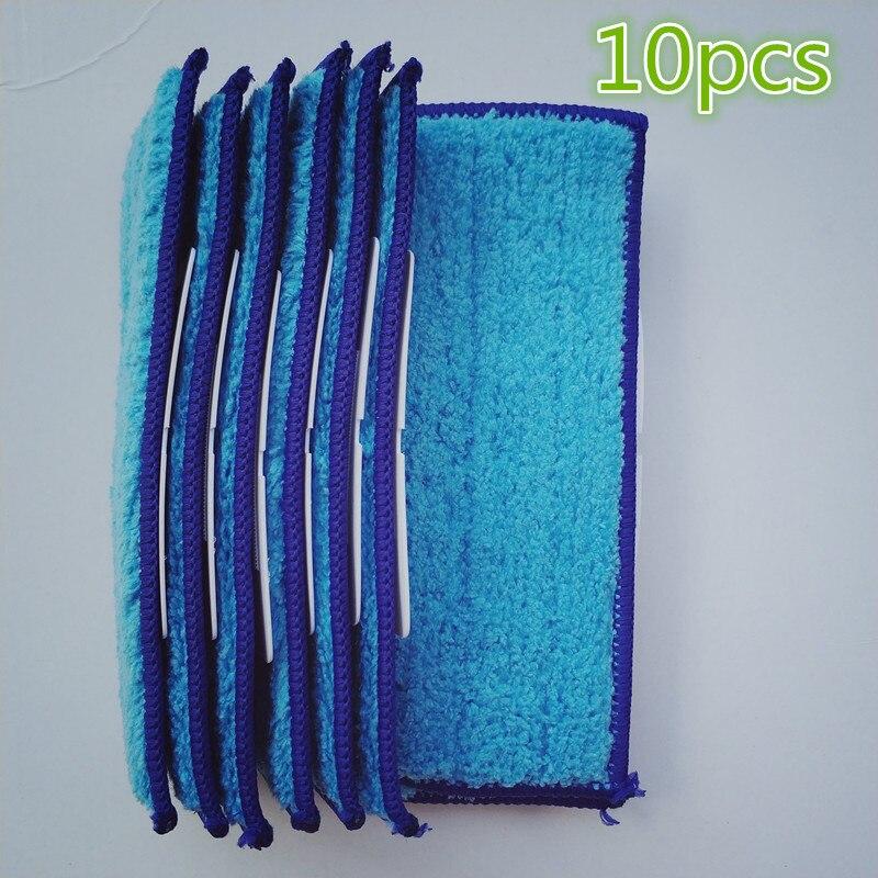 10 шт. робот пылесосы для автомобиля расчёски волос запасных Запчасти влажной Pad Mop Замена салфетки для робота-пылесоса iRobot Braava Jet 240 241