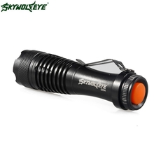 High Quality 2000LM CREE Q5 AA/14500 3Mode ZOOM LED Super Bright Flashlight MINI Police Torch