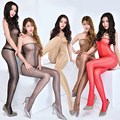 women pantyhose 20d shaping  bling sexy open-crotch ultra-thin sexy stockings tights