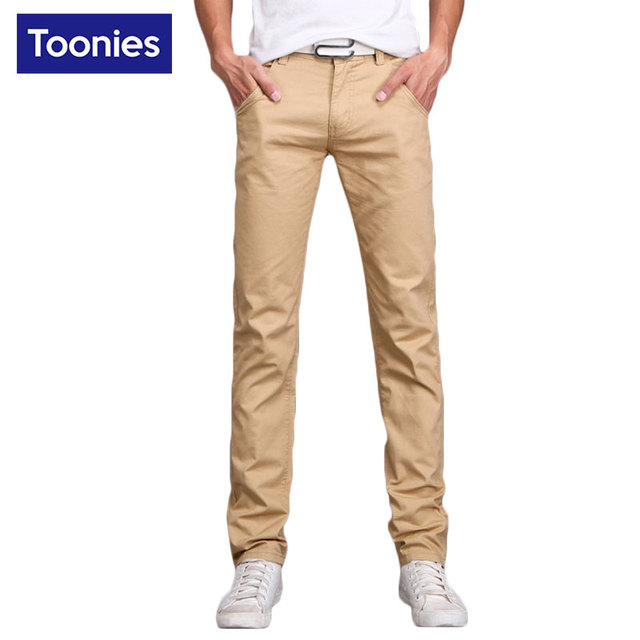 Pantalones para hombre Pantalones de Chándal para Los Hombres 2017 Nueva Primavera de La Moda Pantalones de Color Sólido Ocasional de los hombres Más El Tamaño Recto Delgado de la Marca ropa