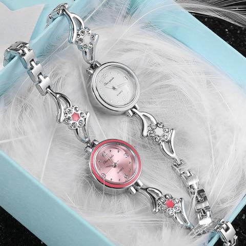 New Fashion Rhinestone Watches Women Luxury Brand Stainless Steel Bracelet watches Ladies Quartz Dress Watches reloj mujer Clock Multan