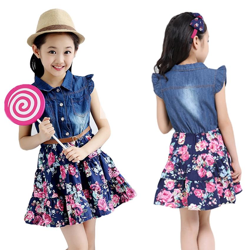 Girls Dresses Cotton Casual Line
