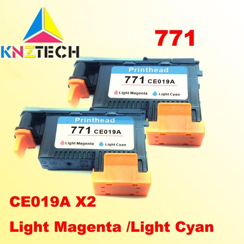 цена на 2PCS printhead compatible for hp771 Light Magenta Light Cyan DESIGNJET 771 Z6200 printer