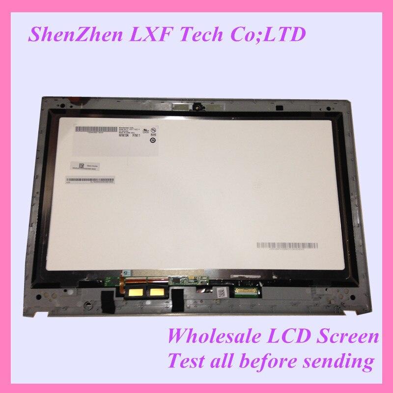 Original For Acer V5-471 V5-471P Laptop lcd led assembly B140XTN02.4 LCD touch digitizer GLASS Screen with bezel frame new 15 6 for acer aspire v5 571 v5 571p v5 571pg v5 531p touch screen digitizer glass replacement frame