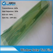 1.52 m x 10 m Auto parabrisas película Sputter película de grado Superior con el rechazo de Calor y Control de rechazo UV Solar película de la ventana SPF-601