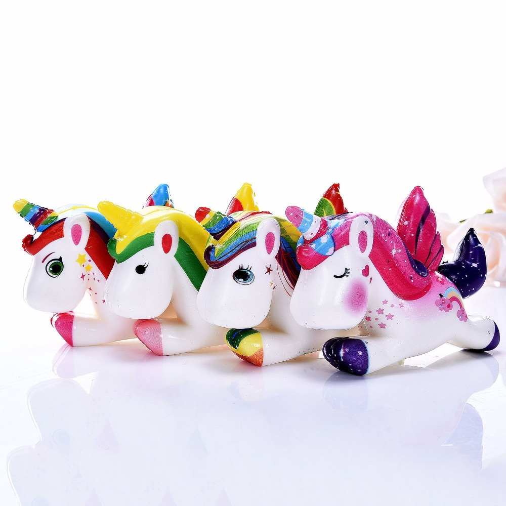 Squishy Slow Rising Cute Color Sweet Scented Unicorn Squishy Jumbo Toys Squeeze Kawaii Squishies Lanyard For Keys Squishy Cake