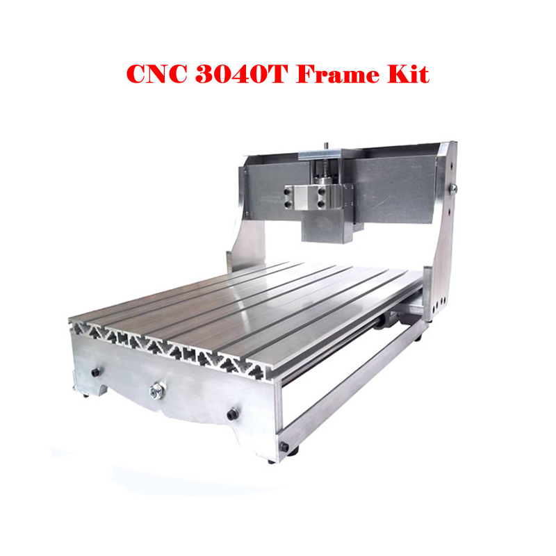 CNC3040 engraving machine frame with trapezoidal screw, cnc router aluminum frame cnc router mini aluminum frame 3040z ball screw with 4pcs toggle clamp