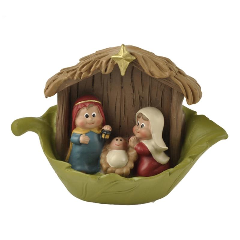 Holy Family Admires Jesus Nativity Religious Christmas: European Christmas Nativity Jesus Mini Religious Holy