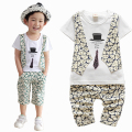 Kid Clothing Set Baby Boy Summer Clothes Sets Short-sleeve T shirt + Capris Children Clothing Summer Set Vest Print