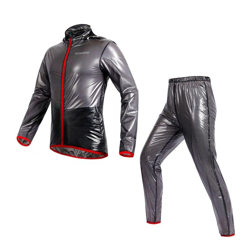 Cycling Raincoat Sets Jacket Waterproof Windproof Outdoor Sports Clothing Bike Rain Jersey