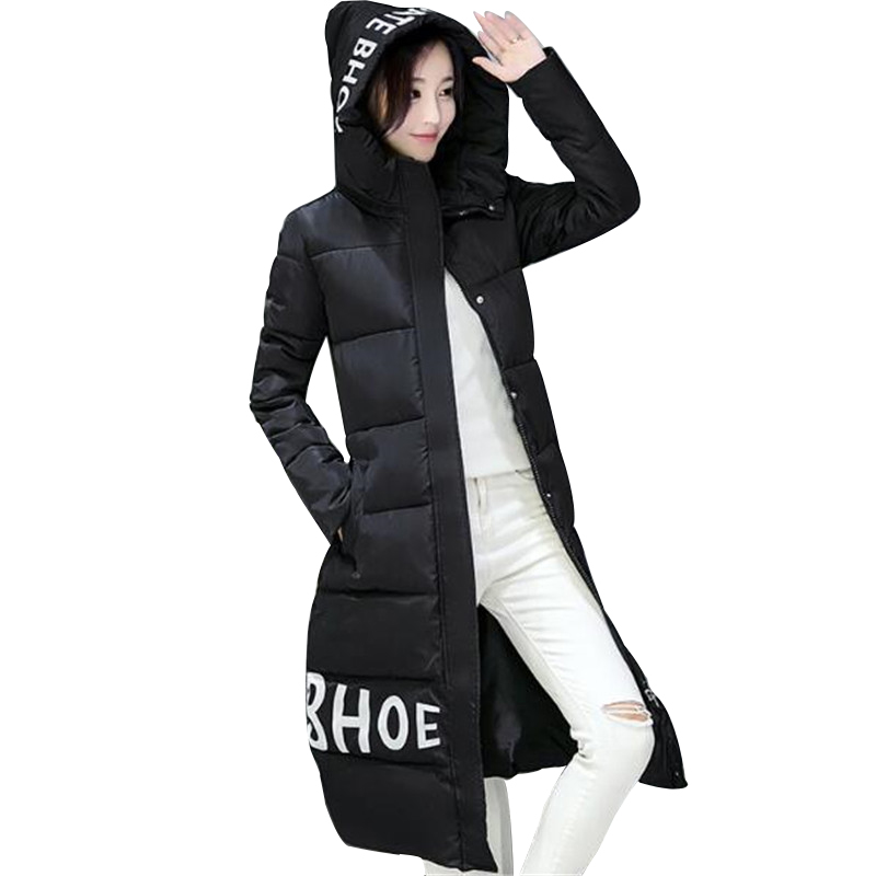 Winter Jacket Women Thick Letter Print Hooded Cotton Parka Female High Quality Padded Parkas Zipper Fashion Coat Jacket TT2486 siviglia denim джинсовые брюки