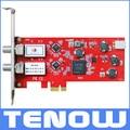 UE Envío de Almacén! TBS6902 DVB-S2 Sintonizador Dual PCIe Tarjeta