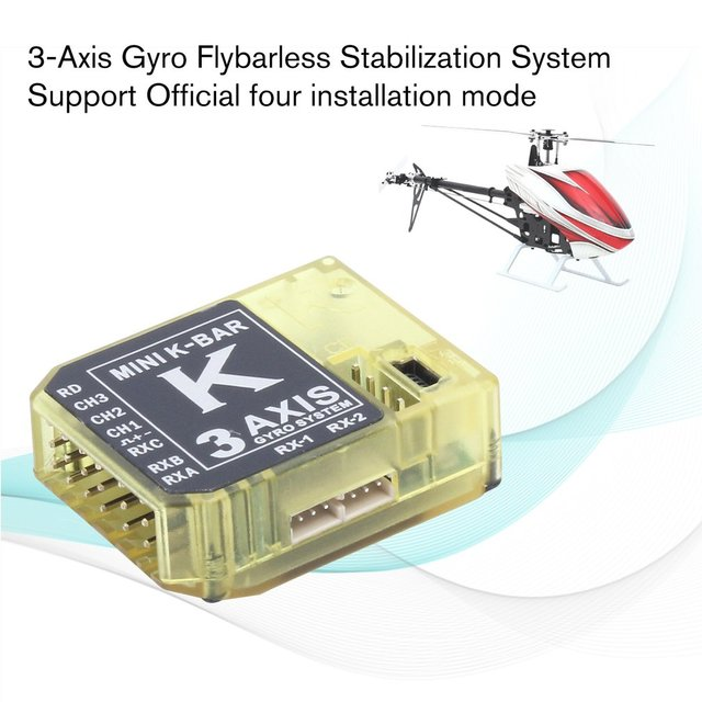 ALZRC MINI K BAR V2 3 Axis Gyro Flybarless Stabilization System for RC  Drone Helicopter Parts Accessories